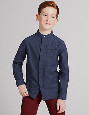Pure Cotton Textured Shirt (3-14 Years)