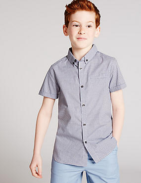 Pure Cotton Geometric Print Shirt (3-14 Years)