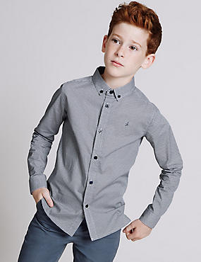 Pure Cotton Shirt (3-14 Years)