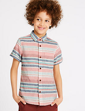 Linen Rich Striped Shirt (3-16 Years)