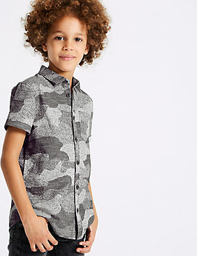 Pure Cotton Camouflage Shirt (3-16 Years)
