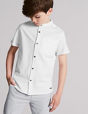 Pure Cotton Shirt (3-16 Years), WHITE, catlanding