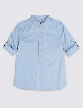 PLUS Pure Cotton Oxford Shirt (3-16 Years)