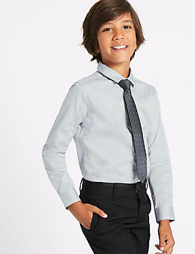 Textured Shirt with Tie (3-14 Years)