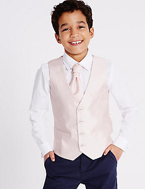 3 Piece Waistcoat, Shirt & Cravat Outfit (3-14 Years)