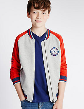 Cotton Rich Baseball Sweatshirt (6-14 Years)