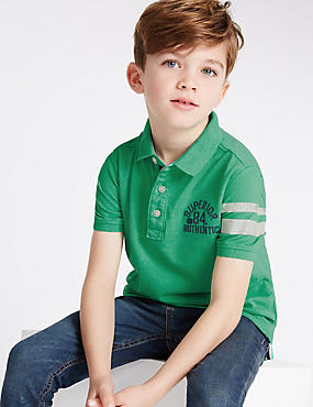 Short Sleeve Polo Shirt (3-14 Years)
