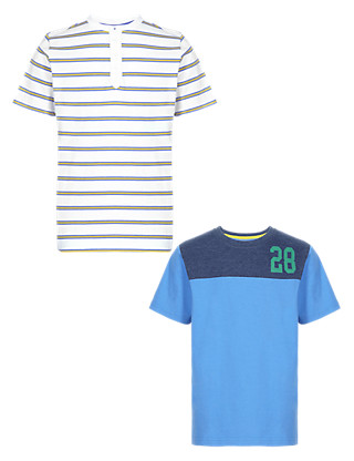 2 Pack Assorted Boys T-Shirts Clothing