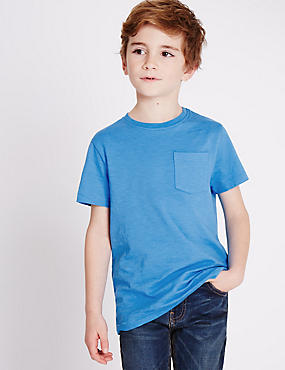 5 Pack Pure Cotton T-Shirts (3-14 Years)