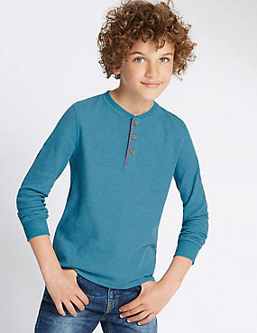 Long Sleeve Waffle T-Shirt (5-14 Years)