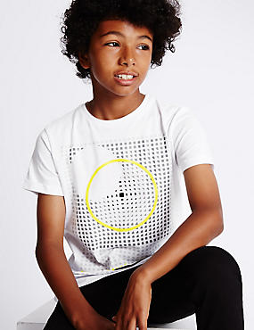 Pure Cotton Circle T-shirt (5-14 Years)