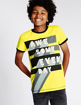 Pure Cotton Awesome T-Shirt (5-14 Years)