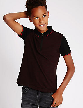 Pure Cotton Short Sleeve Polo Shirt (5-14 Years)