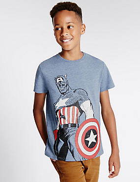 Avengers™ Captain America Shield T-Shirt (5-14 Years)