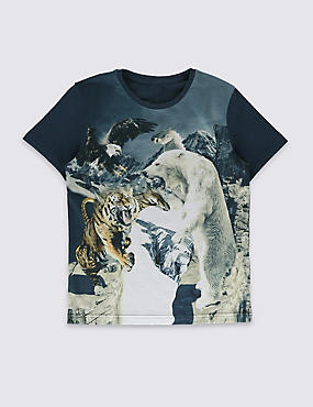 Augmented Reality Bear & Tiger Top (5-14 Years)