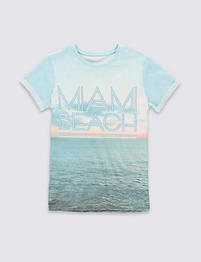 Miami Beach Slogan T-Shirt (5-14 Years)