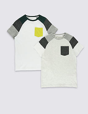 2 Pack Short Sleeve T-Shirts (5-14 Years)