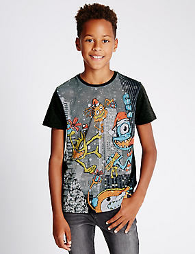 Augmented Reality Aliens T-Shirt (5-14 Years)