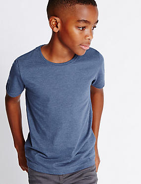 Cotton Blend Short Sleeve T-Shirt (5-14 Years)