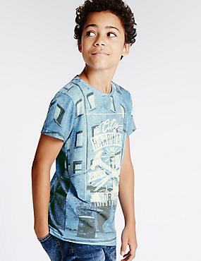 Cotton Rich Short Sleeve Hardware T-Shirt (5-14 Years)