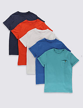 5 Pack Cotton Rich Assorted T-Shirts (5-14 Years)