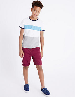 Cotton Shorts with Stretch (3-14 Years)
