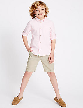 Linen Blend Shorts (1-14 Years)
