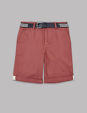 Pure Cotton Chino Shorts with Belt (3-14 Years)