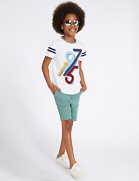 Pure Cotton Chino Shorts (3-14 Years)