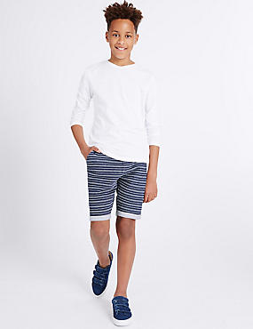 Pure Cotton Textured Shorts (3-14 Years)