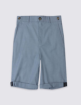 Cotton Chino Shorts with Stretch (3-14 Years)