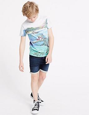 Cotton Rich Shorts (3-16 Years), DENIM, catlanding
