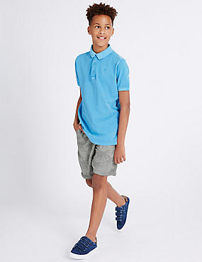 Cotton Rich Textured Shorts (3–14 Years)