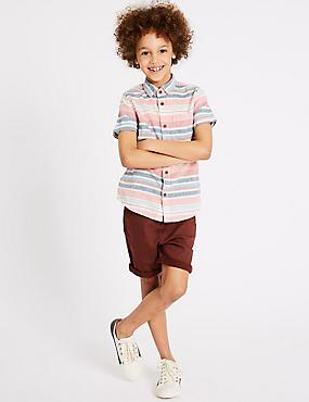 Jersey Denim Shorts (3-16 Years), SPICE, catlanding