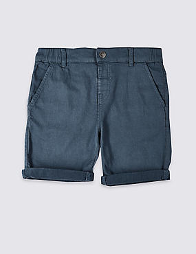 Easy Dressing Denim Shorts (3-16 Years), LIGHT NAVY, catlanding