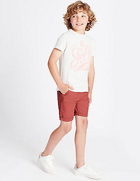 Cotton Blend Shorts (3-14 Years)
