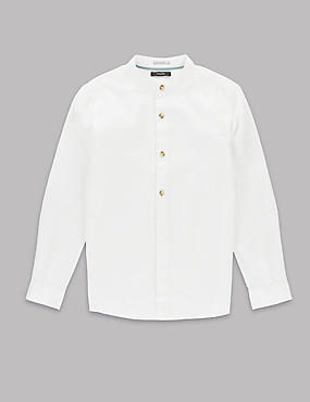 Pure Cotton Waffle Shirt (5-14 Years)