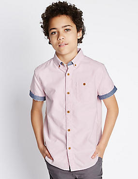 Pure Cotton Oxford Shirt (5-14 Years)