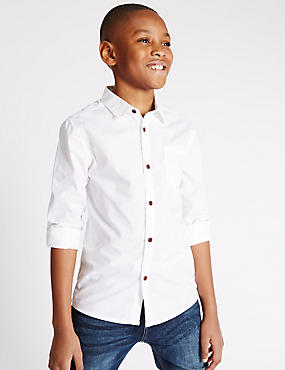 Pure Cotton Long Sleeve Shirt (5-14 Years)