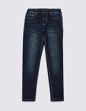 Easy Dressing Jeans (3-16 Years), DARK BLUE DENIM, catlanding