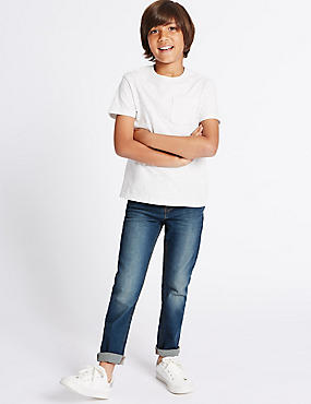 Straight Leg Jeans (3-14 Years), LIGHT DENIM, catlanding