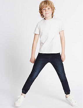 Cotton Rich Dark Denim (3-14 Years), DARK DENIM, catlanding