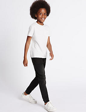 Cotton Rich Jean (3-14 Years), BLACK DENIM, catlanding