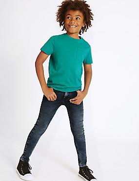 PLUS Skinny Leg Jeans with Stretch (3-16 Years), DENIM, catlanding