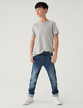 Cotton Rich Skinny Fit Jeans (3-16 Years), BLUE DENIM, catlanding