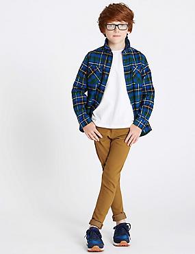 Cotton Rich Super Skinny Fit Jeans (3-16 Years), OCHRE, catlanding