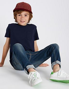 Cotton Rich Jeans (3-16 Years), BLUE DENIM, catlanding