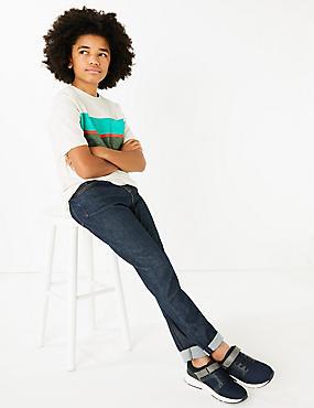 Cotton Rich Jeans (3-16 Years), DARK BLUE DENIM, catlanding