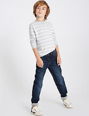 Cotton Rich Jeans (3-16 Years), MED BLUE DENIM, catlanding