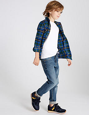 Cotton Rich Jeans (3-16 Years), LIGHT DENIM, catlanding